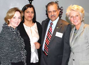 Pervaiz & Almas Lodhie with U.S. Amb. Patterson and Rep. Jane Harman